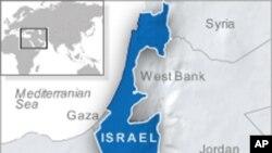 以色列位置图 (VOA 资料)