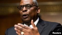 前退休上將奧斯汀(Lloyd Austin)2020年1月19日出席參議院軍委會為核准他出任美國國防部長舉行的聽證會(路透社)