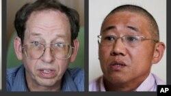 Ông Jeffrey Fowle (trái) và ông Kenneth Bae, hai người Mỹ đang bị Bắc Triều Tiên bắt giữ.