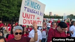 Warga diaspora Indonesia menggelar aksi solidaritas di Houston, Texas (foto: courtesy).