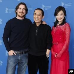 《金陵十三钗》导演张艺谋,演员克里斯蒂安.贝尔和倪妮