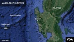 Letak Masinloc di Filipina.