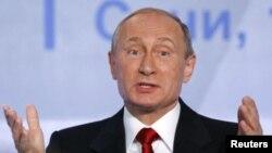 Shugasban Rasha Vladimir Putin yayinda yake bada sanarwar janye dakarunsa daga kasar Syria
