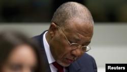 El expresidente de Liberia, Charles Taylor, durante la lectura del veredicto en la corte de La Haya. Fue encontrado culpable de crímenes de guerra.