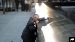 Le père d'une des victimes au mémorial du 11 septembre 2001 (Archives)