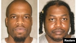 洛克特(左)和另外一名死刑犯沃纳(奥克拉荷马州监狱档案照片)