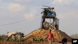 اسرائیلی حملے کا نشانہ بننے والی غزہ کی ایک چوکی