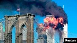 World Trade Centre, New York, le 11 septembre 2001. (REUTERS/Sara K. Schwittek)