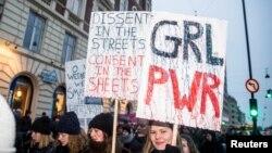 Protest na Dan žena u Kopenhagenu u Danskoj, 8. mart 2017.