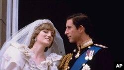 Pernikahan Kerajaan Pangeran Charles dan Putri Diana pada bulan Juli 1981.