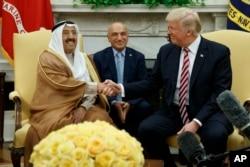 ABŞ prezidenti Donald Trump və Küveyt əmiri Şeyx Sabah Əl Əhməd Əl Sabah