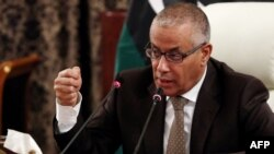 Libyan Prime Minister Ali Zeidan gives a press conference on November 10, 2013 in Tripoli.(AFP/FILE)