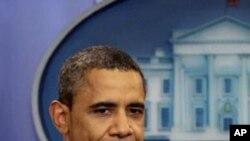 美國總統奧巴馬星期天在白宮宣佈與國會達成債務上限協議。