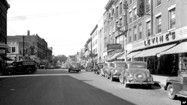 This image of Levine's store on Main Street in Waterville, Maine, is believed to have been taken in the 1930s.