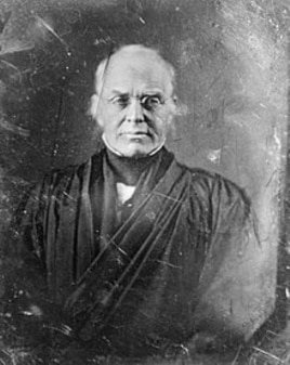 An 1844 Daguerrotype of Supreme Court Chief Justice Joseph Story.