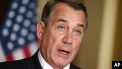 FILE - House Speaker John Boehner denounces executive order on immigration.