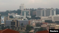 Une vue générale sur la capitale de l'Ouganda, Kampala, le 4 juillet 2016.
