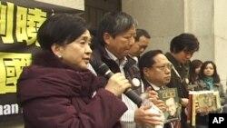 香港民主人士赴挪威前見記者
