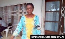 """Marie Jeanne Abega, présidente nationale des femmes du mouvement de la société civile """"les Souverains"""", le 7 septembre 2017. (VOA/Emmanuel Jules Ntap)"""