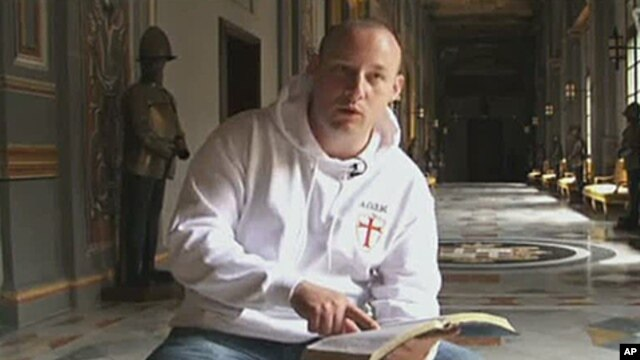 This image from an undated interview made available by VBS.TV on July 27 2011, shows Paul Ray of Britain; Anders Behring Breivik describes him as a mentor