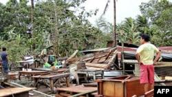 태풍 '보파'로 인해 폐허가된 필리핀 남부 민다니오 지역 (자료사진)