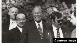 李登辉访问母校康奈尔大学 (图片来源:康奈尔大学)