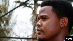 Ayo Omolale, 30, is a political science student at the University of Abuja. He says two weeks after the girls were kidnapped the public is increasingly frustrated by the government's failure to save them, Abuja Nigeria, April 28, 2014. (Photo: Heather M