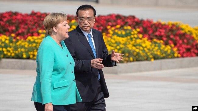 默克尔访华 聚焦香港与美中贸易纷争