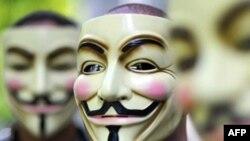 Хакери з Anonymous серед іншого використовують маску Гая Фокса, учасника безуспішного замаху на англійського короля Якова у 17-му сторіччі.