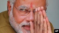 Narendra Modi líder do Bharatiya Janata