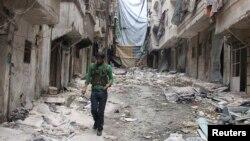 지난 7일 시리아 북부 알레포에서 내전으로 파괴된 건물들. (자료사진)