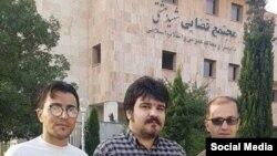 از راست به چپ: امیر (جمیل) شهابی، آرمین شریفه و یدی صمدی