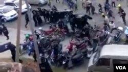 广西南宁邕宁区梁村数千村民抗议当局强拆