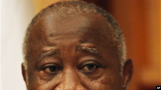 Ivory Coast, President Laurent Gbagbo, speaks during an exclusive interview at his residence, in Abidjan, 26 Dec 2010