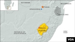 非洲國家萊索托地理位置圖