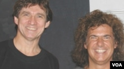 Jazz America's Russ Davis with legendary guitarist Pat Metheny