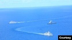 TNI AL dan RSN AL Singapura unjuk kekuatan terbaik dalam latihan perang di Laut Natuna, Kepulauan Riau, 13-20 September 2021. (Sumber: Dinas Penerangan TNI AL)