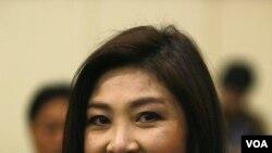 Kandidat PM Thailand dari partai oposisi Thai Pheu, Yingluck Shinawatra