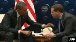 Барак Обама и Дмитрий Медведева в Сеуле (Южная Корея), 26 марта 2012 г.