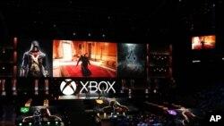 Presentasi Xbox E3 2014 oleh Microsoft di Los Angeles, Senin (9/6).