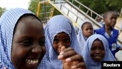 Wasu 'yan makaranta a Maiduguri