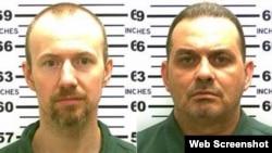 Hai tù nhân nguy hiểm David Sweat và Richard Matt.