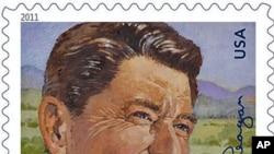 美国邮局今年2月发行的里根总统的邮票