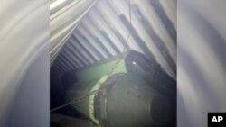 Esta imagen de lo que parecen ser misiles fue tomada por el presidente Ricardo Martinelli y compartida en su cuenta de Twitter.