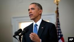 El presidente Barack Obama anuncia una nueva política estadounidense hacia Cuba.