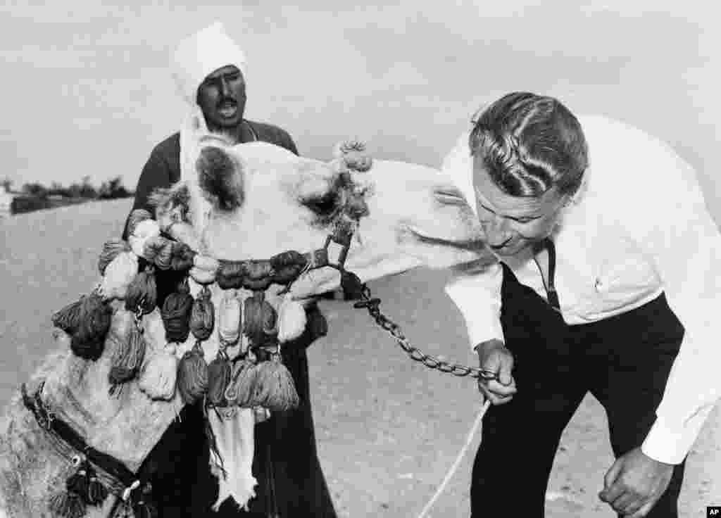 Billy Graham en visite en Egypte, dans les années 60.