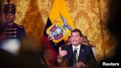 라파엘 코레아 에콰도르 대통령. (자료사진)