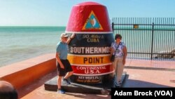 A marker claiming to be the southernmost point in the continental United States