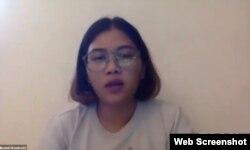 Koordinator KontraS Fatia Maulidiyanti saat memberikan keterangan pers secara online pada Senin (26/10/2020). Foto: screenshoot