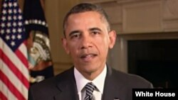 Presiden AS Barack Obama dalam pidato mingguannya (9/3) menyatakan masih optimis mencapai kompromi dengan faksi Republik di Kongres AS soal defisit anggaran (foto: dok).
